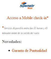 spanair mobi Spanair innova con su facturación móvil