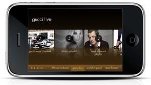 gucci app1 300x169 la moda lujo se asienta en el móvil