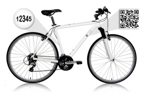bici qr 300x200 Un interesante uso de los qr code en las bicicletas